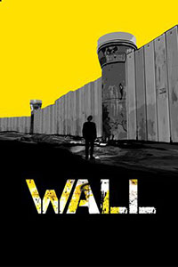 Grapic of Man Standing Look up a the Apartheid Wall